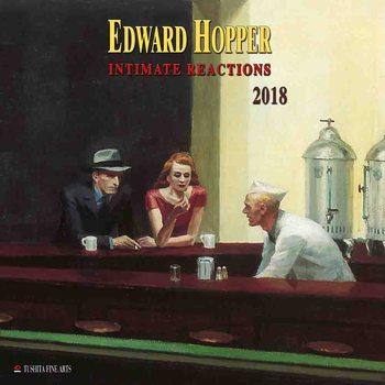 Calendário 2018  Edward Hopper - Intimate Reactions