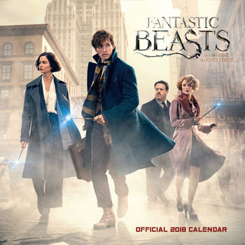 Calendário 2018 Fantastic Beasts and Where to Find Them