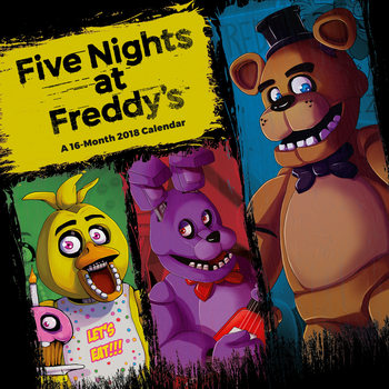 Calendário 2018 Five Nights At Freddys