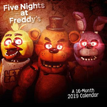 Calendário 2019  Five Nights At Freddys