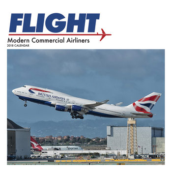 Calendário 2018 Flight, Modern Commercial Airliners