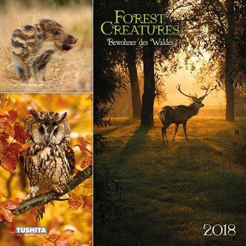 Calendário 2018 Forest Creatures