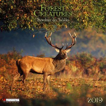 Calendário 2019  Forest Creatures