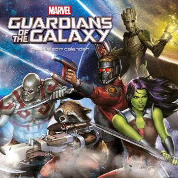 Calendário 2017 Guardians of the Galaxy