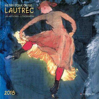 Calendário 2018  Henri Toulouse-Lautrec - Lithographs