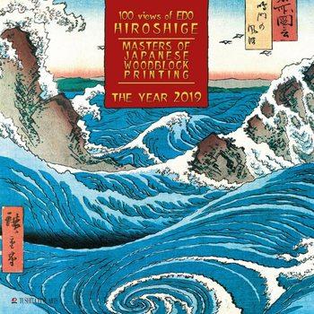 Calendário 2019  Hiroshige - Japanese Wolldblock Painting