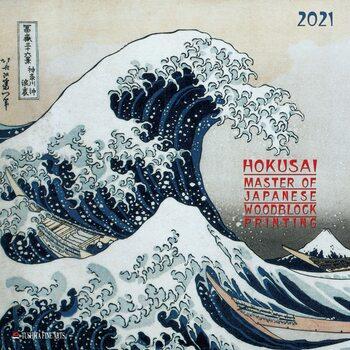 Calendário 2021 Hokusai - Japanese Woodblock Printing