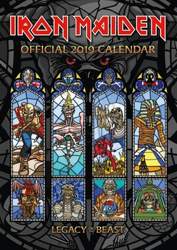 Calendário 2019  Iron Maiden