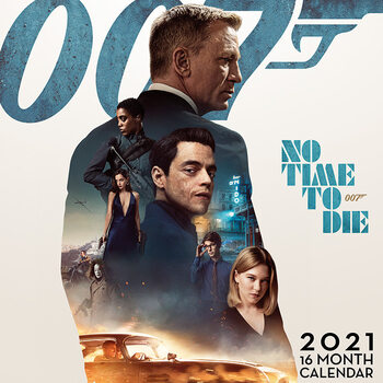 Calendário 2021 James Bond - No Time to Die