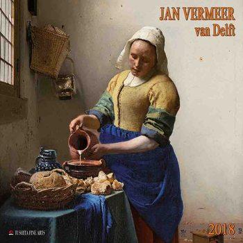 Calendário 2018  Jan Vermeer van Delft