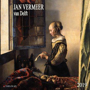 Calendário 2019  Jan Vermeer van Delft