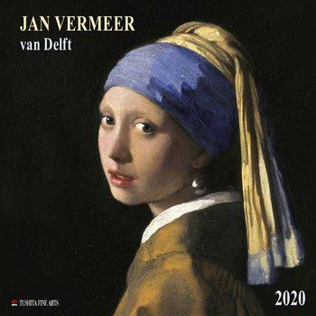 Calendário 2020  Jan Vermeer van Delft