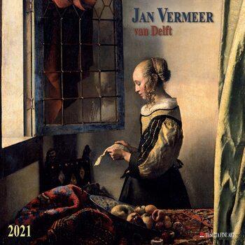 Calendário 2021 Jan Vermeer van Delft
