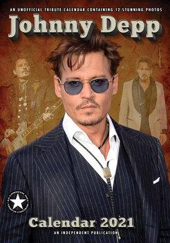 Calendário 2021 Johnny Depp