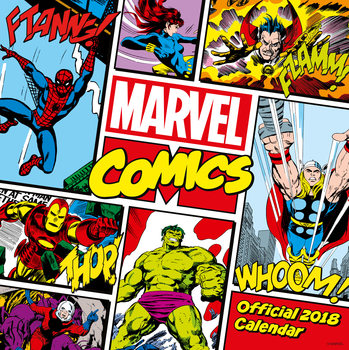 Calendário 2018 Marvel Comics Classics