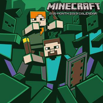 Calendário 2019  Minecraft