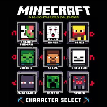 Calendário 2020  Minecraft