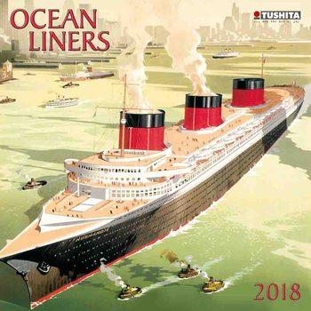 Calendário 2018 Ocean liners