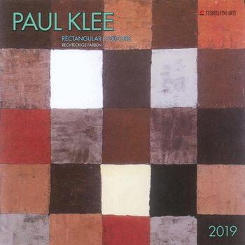 Calendário 2019  P. Klee - Rectangular Colours