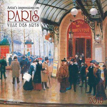 Calendário 2018  Paris - Ville des Arts