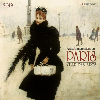 Calendário 2019  Paris - Ville des Arts