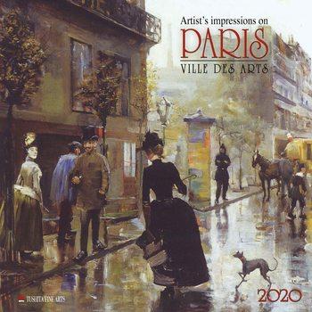 Calendário 2020  Paris - Ville des Arts