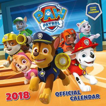Calendário 2018 Paw Patrol