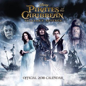Calendário 2018 Pirates Of Carribean 5