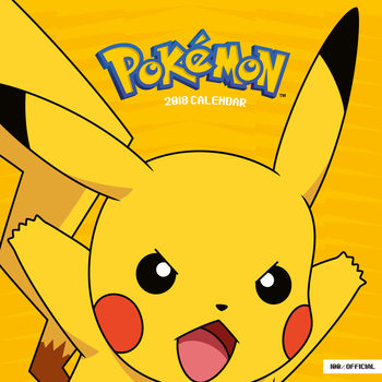 Calendário 2018 Pokemon