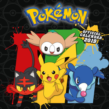 Calendário 2019  Pokemon