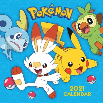 Calendário 2021 Pokemon