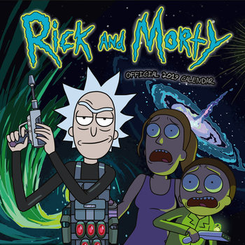 Calendário 2019  Rick And Morty