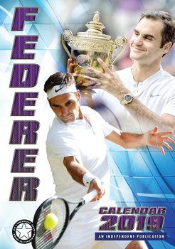 Calendário 2019  Roger Federer