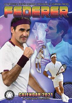 Calendário 2021 Roger Federer