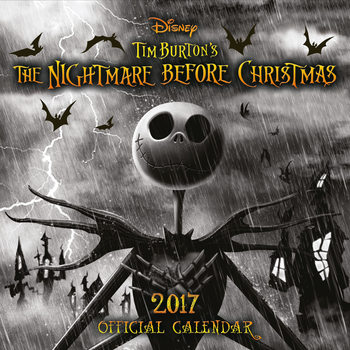Calendário 2017 The Nightmare Before Christmas