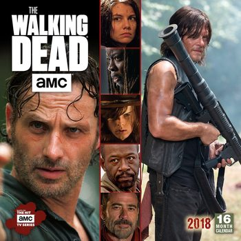 Calendário 2018 The Walking Dead