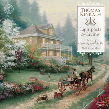 Calendário 2019  Thomas Kinkade - Lightposts for Living