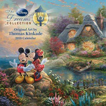 Calendário 2018 Thomas Kinkade - The Disney Dreams Collection