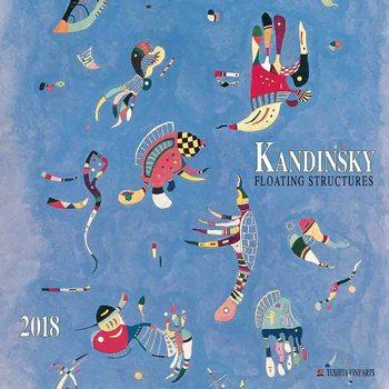 Calendário 2018  Wassily Kandinsky - Floating Structures