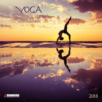Calendário 2018 Yoga Surya Namaskara