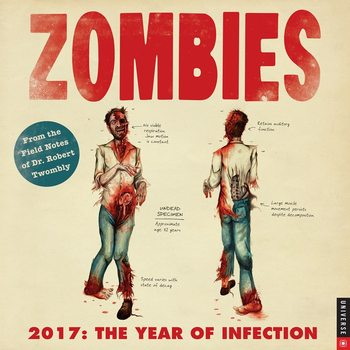 Calendário 2017 Zombie