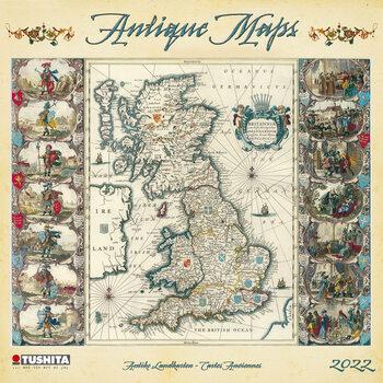 Calendário 2022 Antique Maps