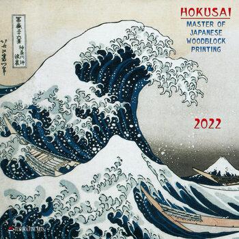 Calendário 2022 Hokusai - Japanese Woodblock Printing