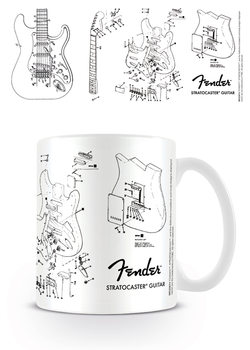 Caneca Fender - Exploding Stratocaster
