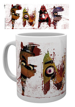 Caneca Five Nights At Freddy's - Letters