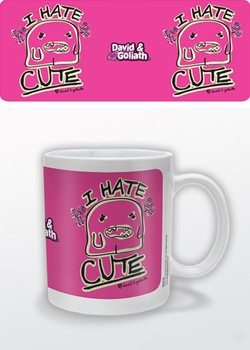 Caneca Humor - I Hate Cute, David & Goliath