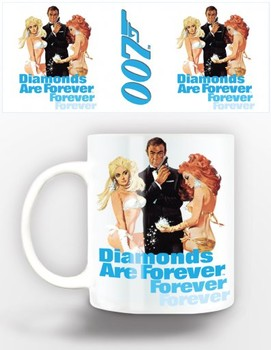 Caneca James Bond - diamonds are forever