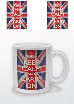 Caneca Keep Calm and Carry On - Union Jack