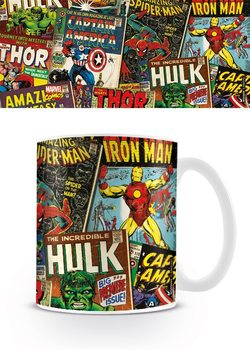 Caneca Marvel Retro - Covers