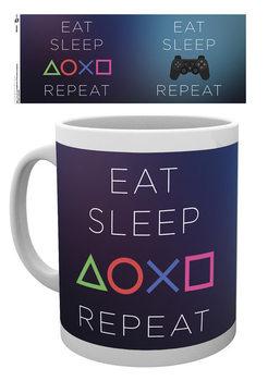 Caneca Playstation: Eat - Sleep Repeat